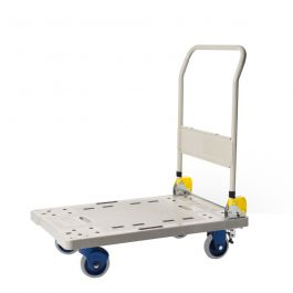 Prestar foldable plastic platform trolley, load capacity 300 kg