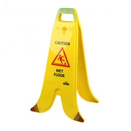 Folding Banana A-frame sign for wet floors