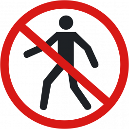 "Anti-slip floor pictogram: ""No Pedestrians"""