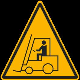 """Anti-slip floor pictogram: """"Warning: Forklift Area"""""""