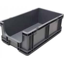 Straight-wall container 260x505x165 mm with open front