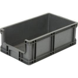 Straight-wall container 295x505x180 mm with open front