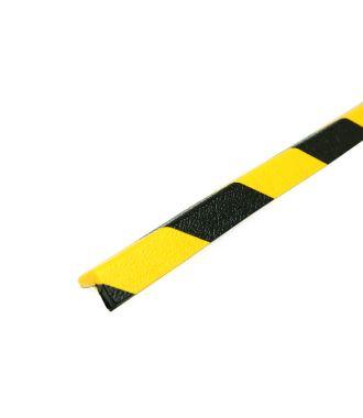 PRS bumper for corners, model 45 - yellow/black - 1 meter