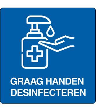 """Floor pictogram for """"disinfect hands"""" Dutch"""
