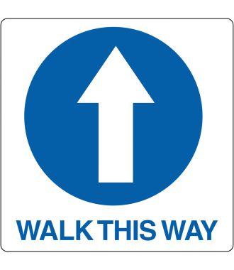 "Floor pictogram for ""Walk This Way"""