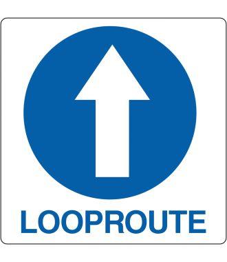 "Floor pictogram for ""Mandatory Walking Direction"" Dutch"