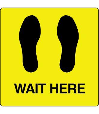 """Floor pictogram for """"Wait Here"""""""