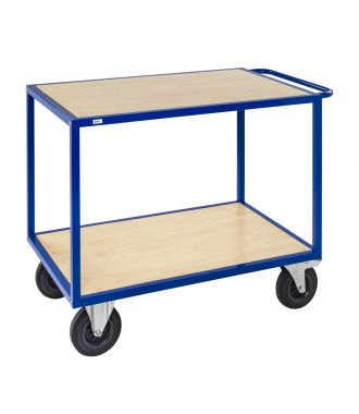 Kongamek table trolley with wooden platforms, load capacity of 500 kg