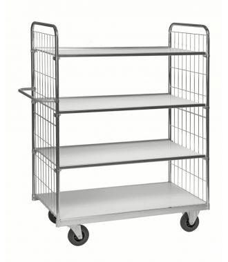 Kongamek trolley with four adjustable shelves, load capacity of 300 kg