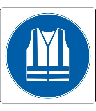 """Foor pictogram for """"Safety Vest Required"""""""