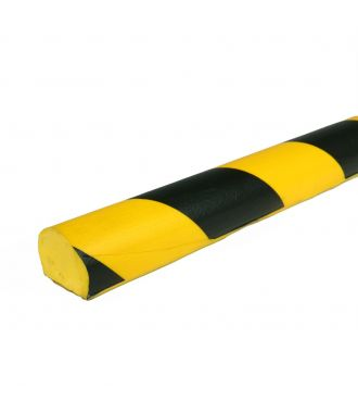 PRS bumper for flat surfaces, model 3 - yellow/black - 1 meter