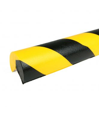 PRS bumper for corners, model 4 - yellow/black - 1 meter
