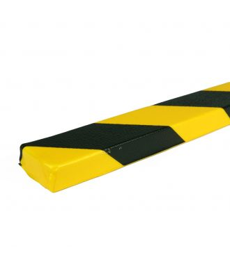 PRS bumper for flat surfaces, model 43 - yellow/black - 1 meter