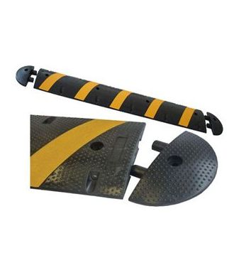 Rubber speed bump 2.02 m x 300 mm x 50 mm