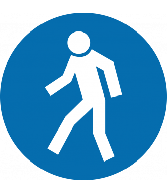 "Anti-slip floor pictogram: ""Pedestrians Only"""