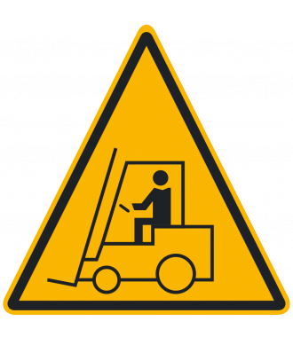 "Anti-slip floor pictogram: ""Warning: Forklift Area"""