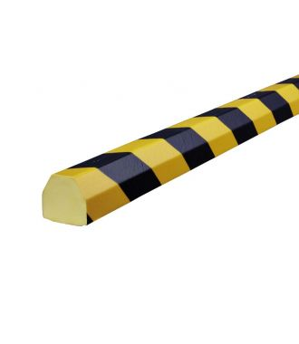 Knuffi bumper for flat surfaces type CC - yellow/black - 5 meter