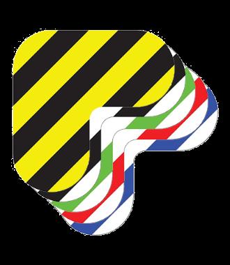 Corner - Hazard Stripes