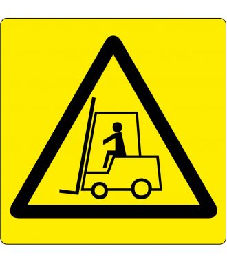 "Floor pictogram for ""Warning: Forklift Area"""