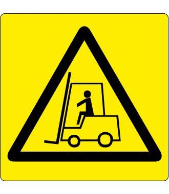 "Floor pictogram for ""Warning: Forklift Area"""