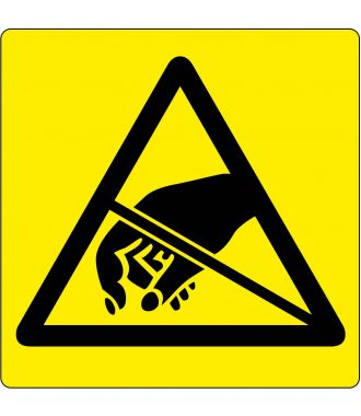 Floor pictogram warning of ESD-sensitive items