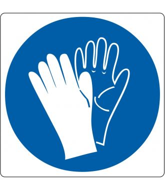 "Floor pictogram for ""Safety Gloves Required"""