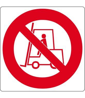 """Floor pictogram for """"No Forklifts"""""""