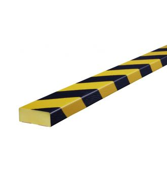 Knuffi bumper for flat surfaces type D - yellow/black - 5 meter