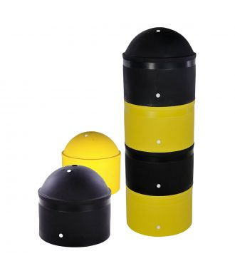 Stackable, plastic parking bollard