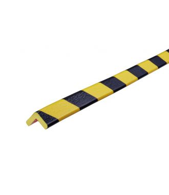 Knuffi bumper for corners, type E - yellow/black - 5 meter