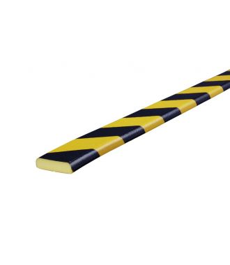 Knuffi bumper for flat surfaces type F - yellow/black - 5 meter