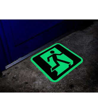 Glow-in-the-dark emergency exit sign