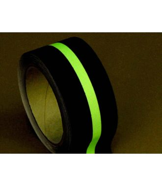 Anti-slip tape (black) with glow-in-the-dark stripe
