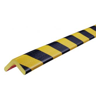 Knuffi bumper for corners, type H - yellow/black - 5 meter