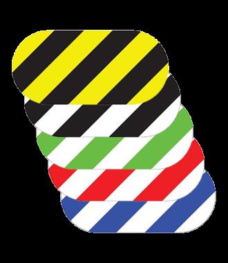 Oval - Hazard Stripes