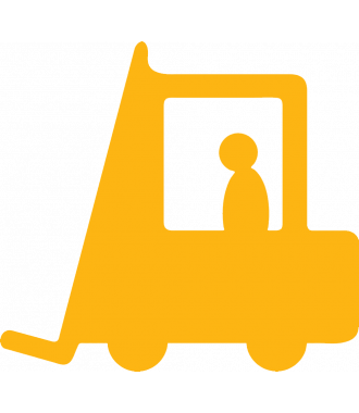 Forklift Aisle Marking Sign, Anti-slip