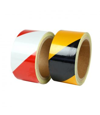 Reflective hazard tape