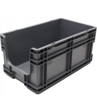 Straight-wall container 260x505x210 mm with open front