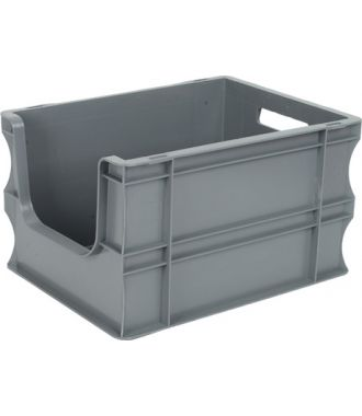 Straight-wall container Eurobox 300x400x235 mm with open front