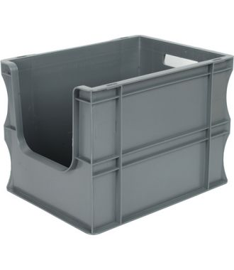 Straight-wall container Eurobox 300x400x290 mm with open front