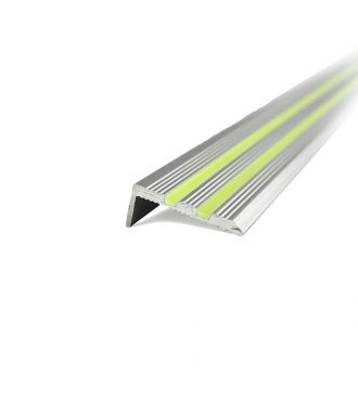 Glow-in-the-dark aluminium stair-nosing profile