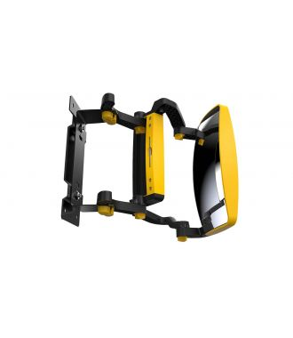 GenieGrips® front-view mirror for forklifts
