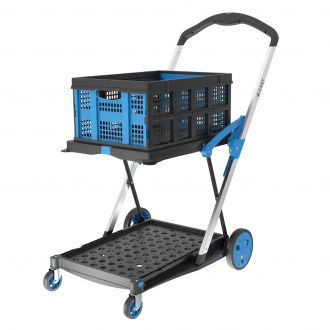 X-Cart collapsible crate trolley + 1 folding crate