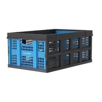 Collapsible crate - 49 litres - blue and black