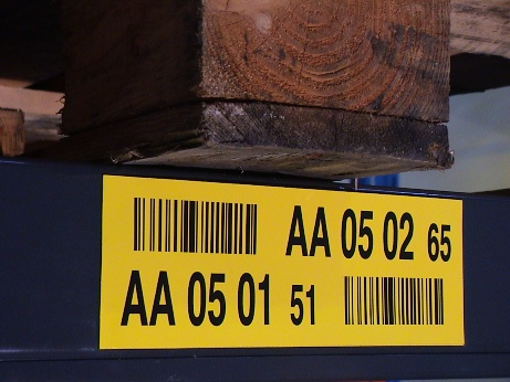 check digit on location label